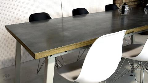 ... Zinc Top Dining Table