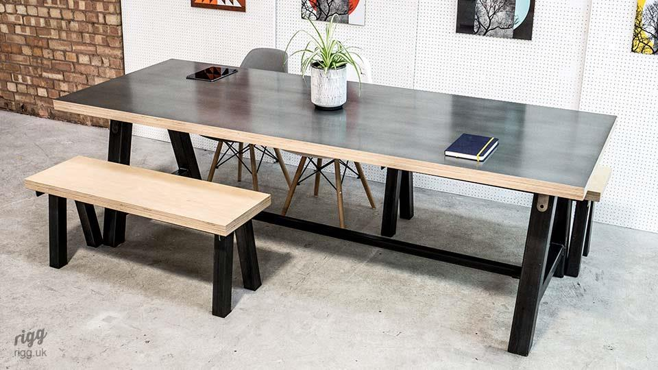 A Frane Table & Benches