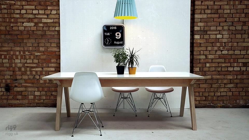 birch plywood table white top