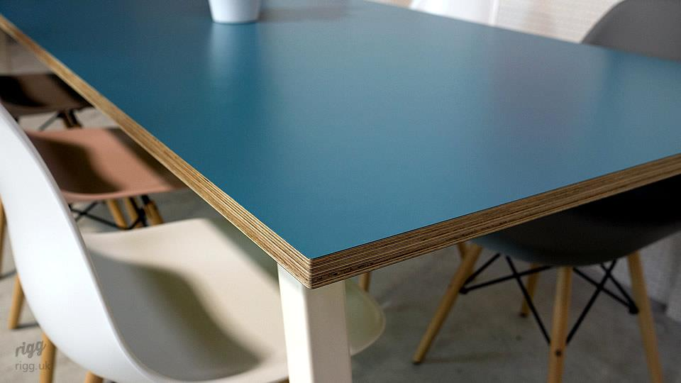 Blue Birch Plywood Table
