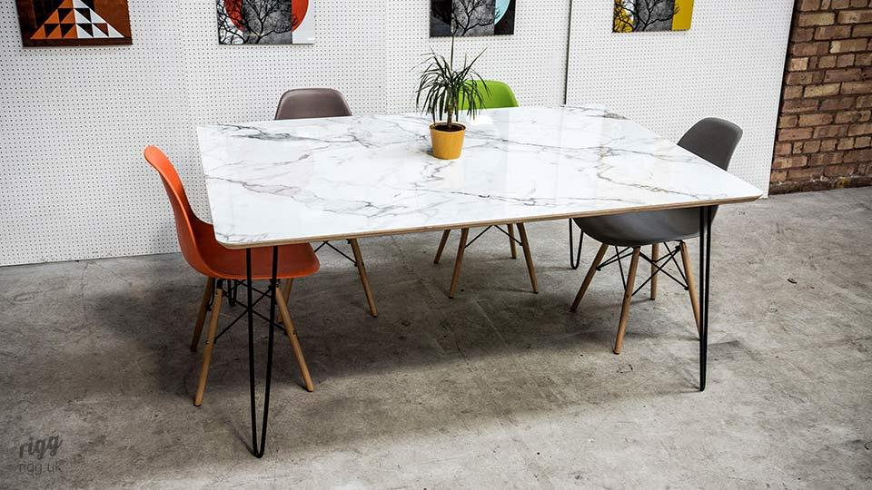 Flote HPL Marble Hairpin Table