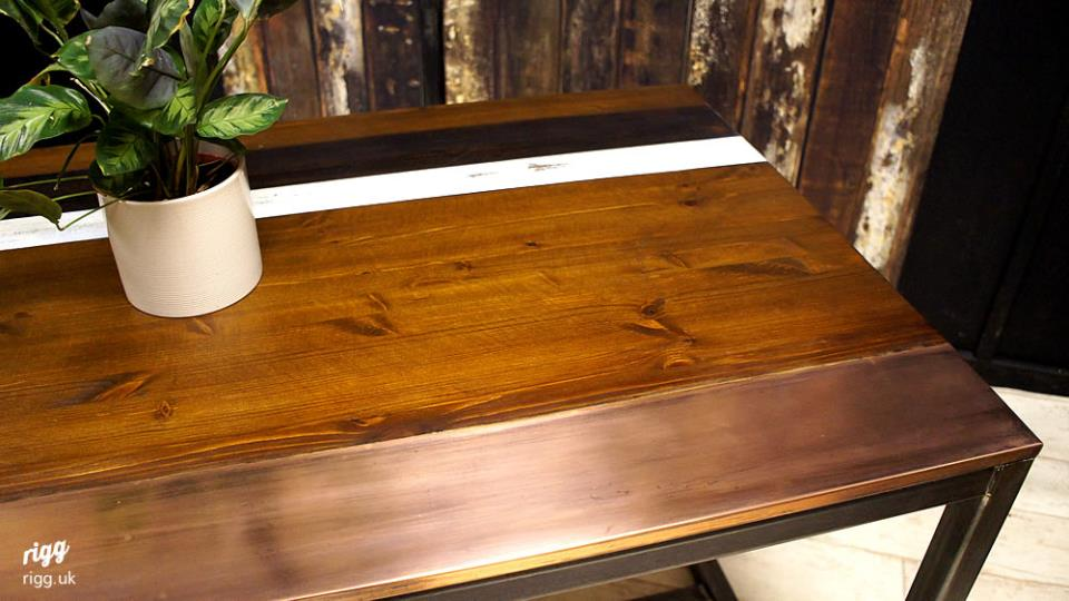 Wood Amp Copper Top Dining Table