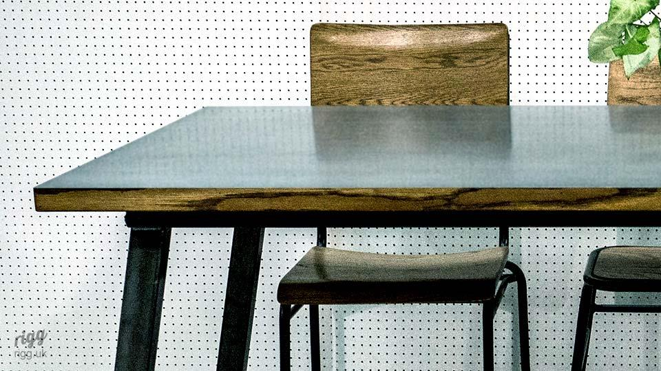 Industrial Zinc Top Table