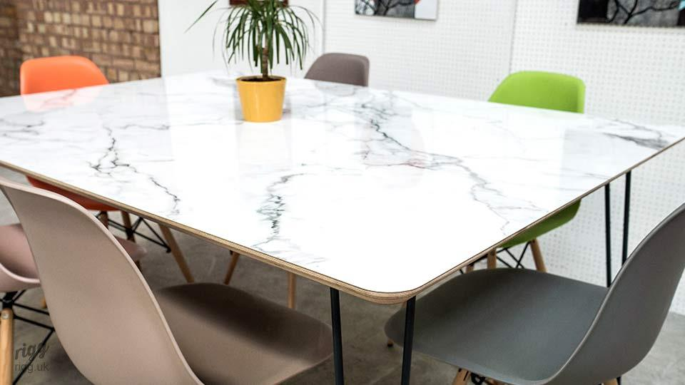 Marble Style Table