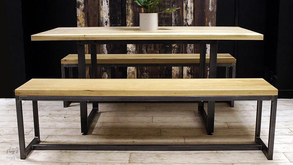 Loop Dining Table Amp Benches Oak