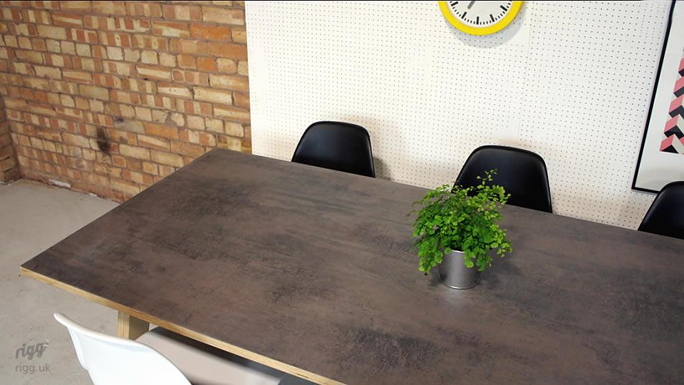 Old Metal Laminate Top Table