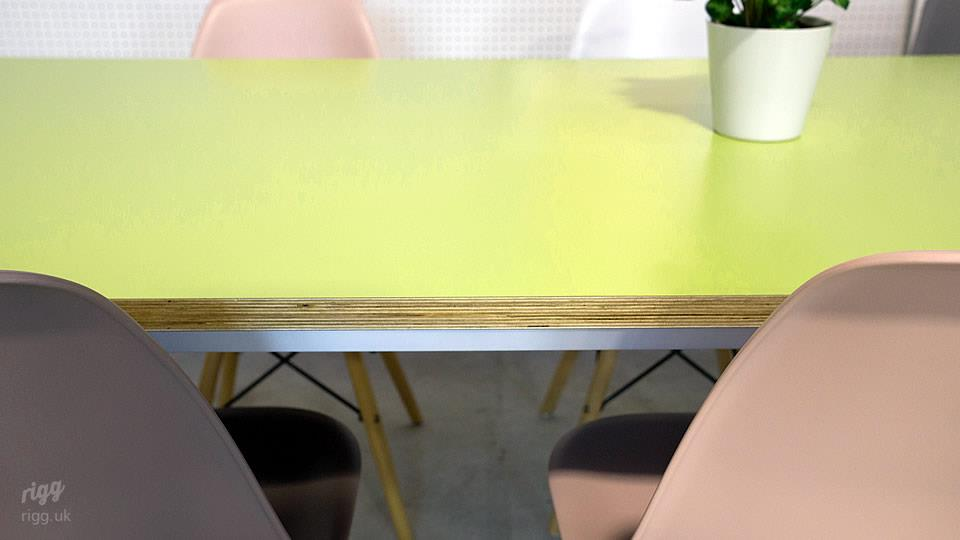 Pale Yellow Birch Plywood Table