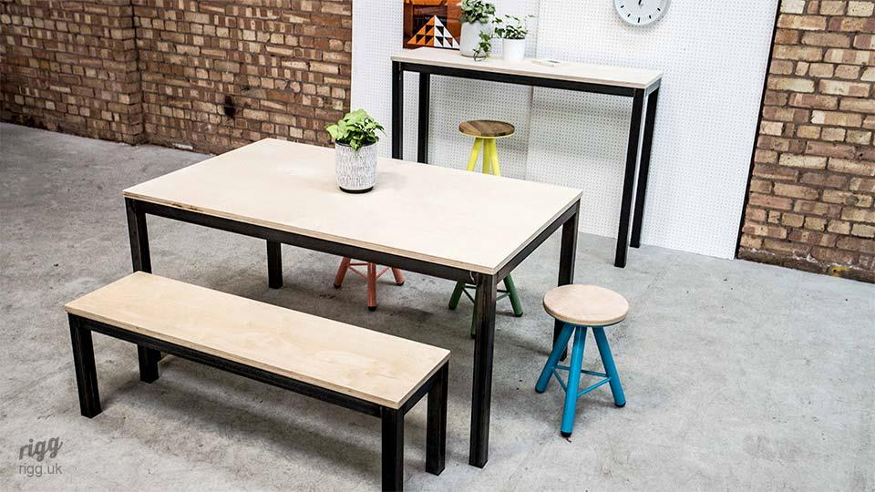 Plywood Industrial Tables & Benches