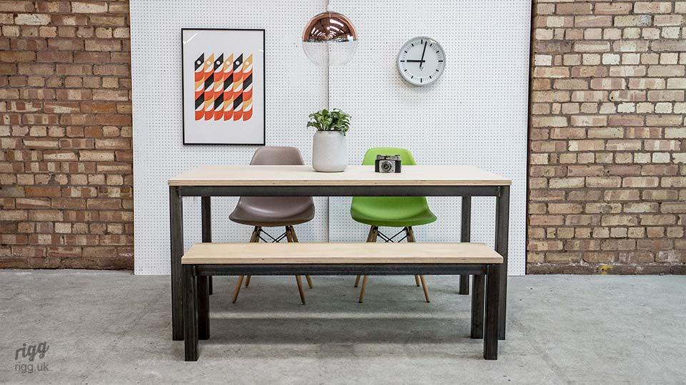 Quad Plywood Table & Bench