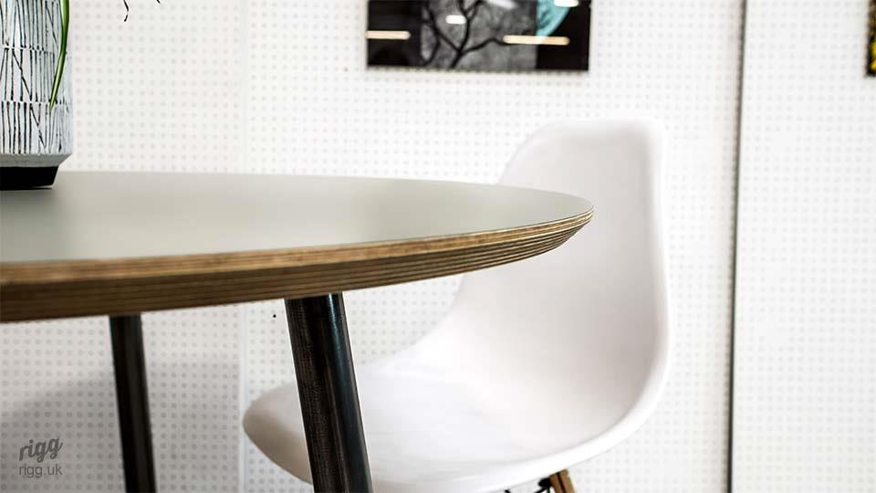 Round Plywood Dining Table Thin Edge