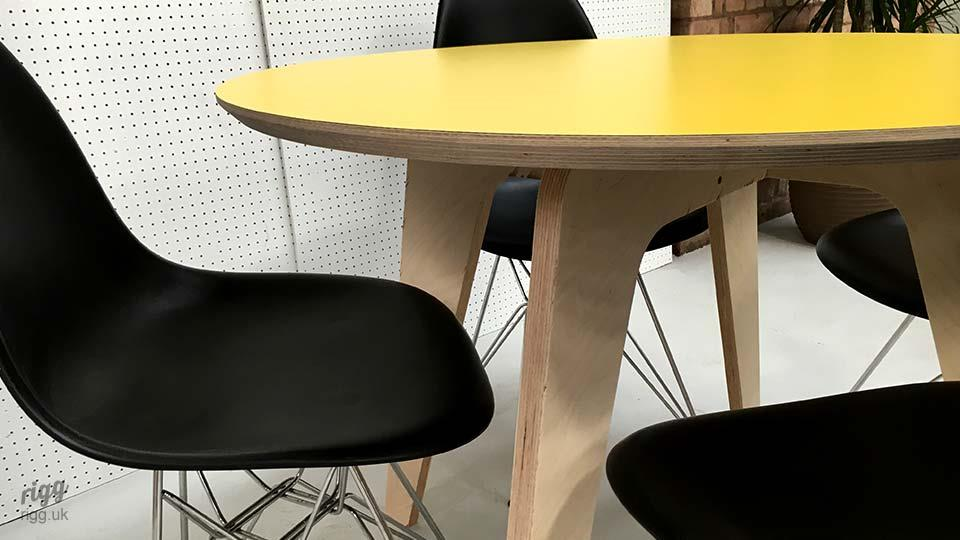 Synk Round Plywood Dining Table