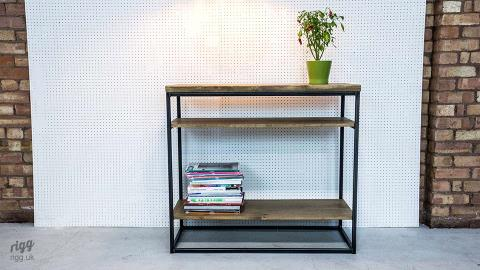 Grafik Industrial Hallway Table with Shelves