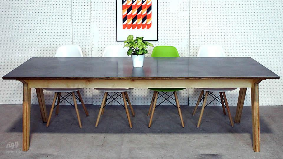 Plywood & Zinc Dining Table